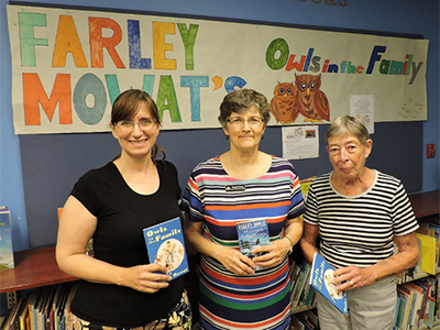 Bree Nixon, Margaret Scott and Lou Pamenter are pictured at the Port Hope Public Library.